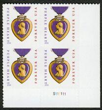 #5035 Coeur Violet, Plaque Bloc [S111111 LR ], Excellent État Any 4 =