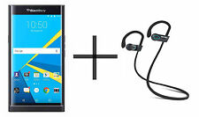 BlackBerry PRIV Unlocked GSM Black Phone bundled w/ SHARKK Flex 2o Headphone