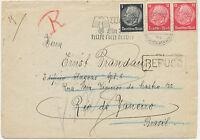 DT.REICH 1938 HOCHINTERESANTER BELEG – 1 ½ Jahr unterwegs, AUSSTELLUNGSSTÜCK RR!