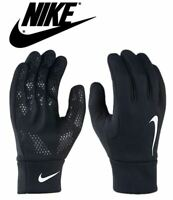 Nike Mens Hyperwarm Gloves Field Football Training Running Adults Black S M L