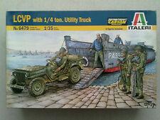 ITALERI 6479 LCVP with 1/4 argile Utility Truck 1:35 Nouveau & emballent