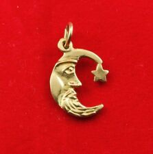 NEW 9ct Yellow Gold Moon and Star Charm 375 Pendant 9K Crescent Moon Solid