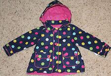 NWT CARTER'S Polka Dot Jacket coat Hood blue pink sz 2T $36