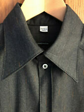 Alexander McQueen Men's Rust Flecked Soft Grey Wool Shirt Size: 50 Joan A/W 1998