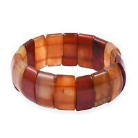 Designer Elegant Carnelian Beads Stretch Bracelet Wrist Jewelry Gift for Women