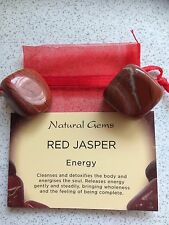 Red Jasper Natural Gem Stones/Tumblestones.Energy.Cleanses.Detoxifies.Bag & Info