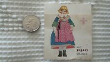 """Antique Advertising JELL-O """"Miss Jell-O in France"""" Recipe Card Brochure"""