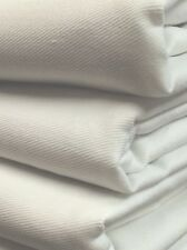 "White 100% Cotton Twill Drill Fabric 1 meter - 60"" Wide - Upholstery, crafts,"