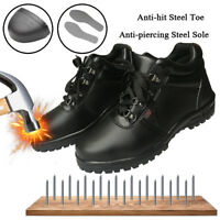 Men's Safety Shoes Waterproof Steel Toe Steel Sole Leather Work Boots US Stock
