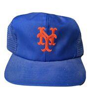 Vintage New York Mets Mesh Hat Snapback Trucker Cap 80s 90s MLB Baseball