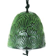 Japanese Furin Wind Chime Nanbu Bell Iron Iwachu Green Pine Needle Made in Japan