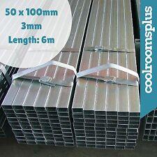 6m RHS Pipe Galvanised Steel Tube Rectangular 100x50mm 3mm wall
