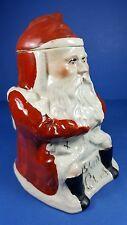 Vintage personnage staffordshire tobacco jar-santa claus design