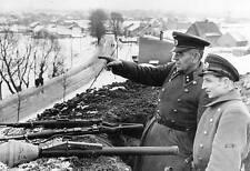 WWII B&W Photo German Soldiers Panzerfaust WW2 / 2030