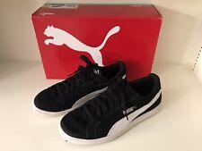 Puma Men's Smash Soft Foam Black Suede Athletic Shoes -Size 8