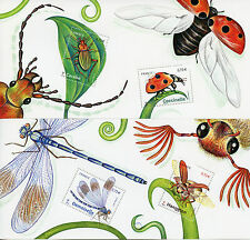 France 2017 MNH Insects Ladybirds Beetles Damsels 2 x 2v M/S Stamps