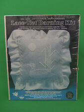 "New Vintage Valiant Create Lace Net Darning Duck 14"" Pillow 11 X 11 Picture Kit"