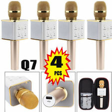 4X Q7 Wireless Bluetooth KTV Karaoke Microphone Speaker For IPhone/Android Gold!