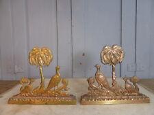 Par De Bronce Antiguo Victoriano chimenea Artículos Decorativos