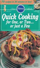 Pillsbury QUICK COOKING FOR 1,2 or JUST A FEW Cookbook #115 1990 Classics