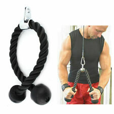 Black Tricep Rope Multi Gym Cable Attachment Press Push Pull Down Arm Exercise