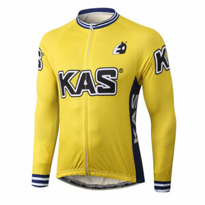 Thermal Fleece / Polyester KAS cycling jersey Long sleeve