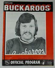 1973-1974 WHL Program - Denver Spurs at Portland Buckaroos
