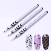 Manicure UV Gel Liner Pen Drawing Acrylic Brush Nail Art Tool Flower Painting