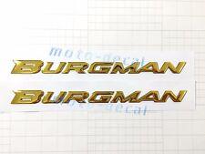 Raised 3D Chrome Burgman AN125 AN200 AN400 AN650 Emblem Decal Bling Gold Sticker