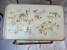 50´s RARE DESIGN CARRELLO TAVOLINO side table piano del tavolo in ceramica