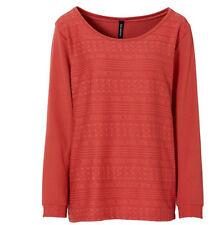 Struktur-Sweatshirt mit weitem Rundhals-Ausschnitt Gr.32/34