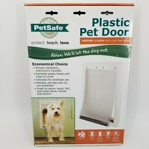 Petsafe Plastic Pet Door Economical Choice Medium 1-40 lb's New