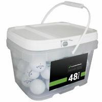 48 Callaway Chrome Soft Golf Balls *No Markings or Logos* *In a Free Bucket!*