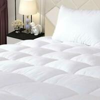 Bedding Mattress Pad Protector Hypoallergenic Quilted Fitted Sheet Topper