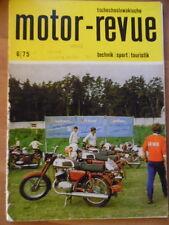 Tschechoslowakische MOTOR REVUE  6 - 1975 Salon Genf Geländesport-EM Eisspeedway
