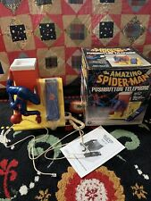 Amazing Spiderman Telephone With Box Complete Vintage Marvel Stan Lee