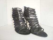 Ladies Black High Heels With Rhinestones Size 61/2 , 7