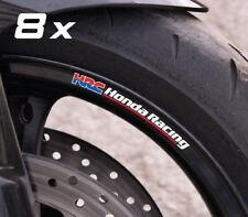 8 x Honda Racing HRC small wheel stickers decals cbr600rr cbr1000rr Laminated!