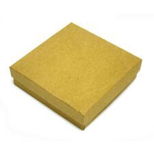 """Cotton Filled Kraft Jewelry Boxes - 3½"""" x 3½"""" x 1"""" - Case of 100"""