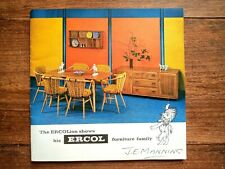 More details for rare 60s vintage ercol furniture catalogue brochure w/ price list mcm interior