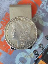 1895 Morgan Dollar Coin Silver tone Money clip