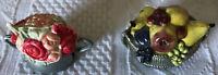 Figural Tape Measure Fruit Basket Flower Basket Celluloid FIX REPAIR TAPE INSIDE