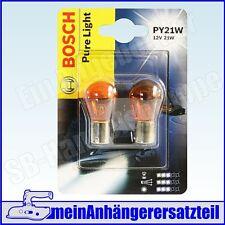Bosch Pure Light 12V 21W PY21W BAU15s orangene Glühlampe Glühbirne - 1987301018