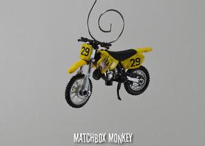 Suzuki RM125 Motorcycle Dirt Bike Custom Christmas Ornament 1:32 Scale FX 90's