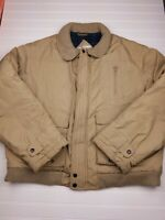 Vintage McGREGOR Brown Bomber Coat insulated Jacket full zip Men's Size Large HU