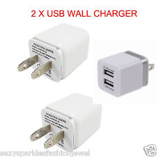 2 X USB wall Charger Fast 1A 2A USB Adapter For Galaxy S3 4 5 Note 3 LG iPhone