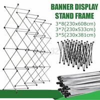 Iron Retractable Stand Wall Frame Wedding Backdrop Decor Banner Display Show  A