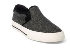 Ralph Lauren Men's Size 12 Vaughn Herringbone Sneaker New Black/Cream NIB