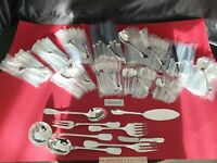 Cutlery set Cluny France 152P Really Beautiful christofle Silver Plated Flatware