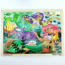 Melissa and Doug Mermaid Fantasea Wooden Jigsaw Puzzle 48 Pieces